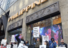 Protestors in NY picket the Philippines embassy